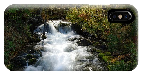 Waterfall On The Little Spearfish Iv IPhone Case