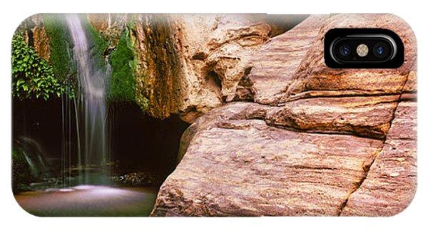 Waterfall Rushing Through The Rocks IPhone Case
