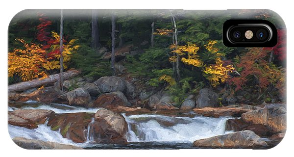 Waterfall - White Mountains - New Hampshire IPhone Case