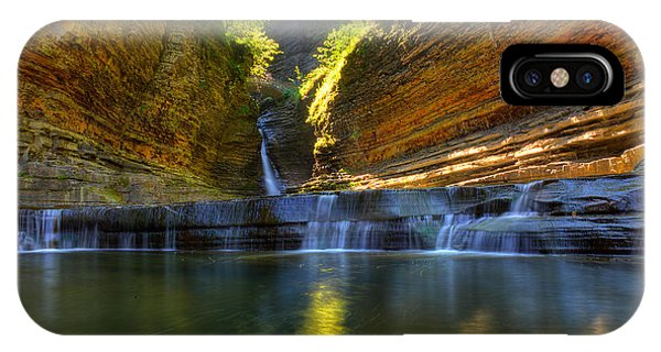 Waterfalls At Watkins Glen State Park IPhone Case