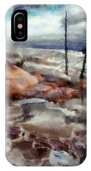 Waterfalls At Yellowstone IPhone Case