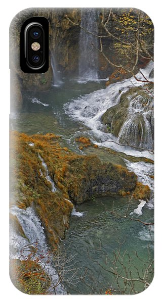 Waterfalls Connecting Plitvice Lakes IPhone Case