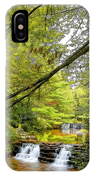 Waterfalls In Late Summer Pocono Mountains Pennsylvania IPhone Case