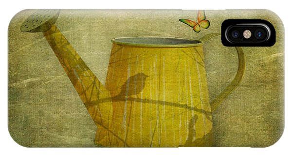 Branch iPhone Case - Watering Can With Texture by Tom Mc Nemar