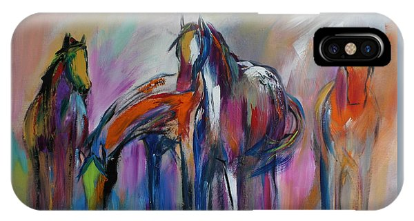 Wild Horses iPhone Case - Watering Hole by Cher Devereaux