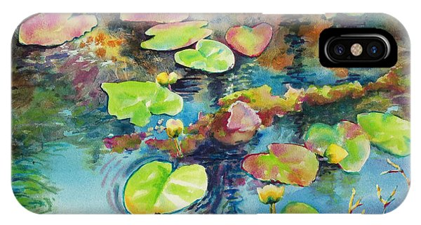 Waterlily iPhone Case - Waterlilies In Shadow by Kathy Braud