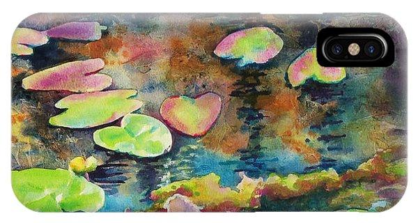Waterlilies In Shadow IPhone Case