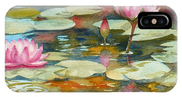 Waterlily iPhone Case - Waterlily Pond by Janet Zeh