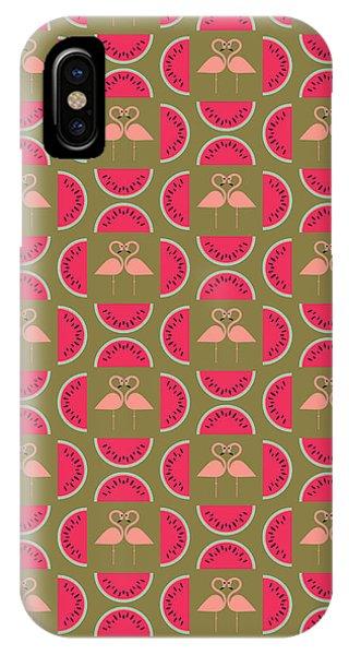 Watermelon Flamingo Print IPhone Case
