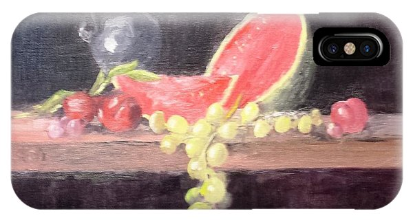 Watermelon Plums And Grapes IPhone Case