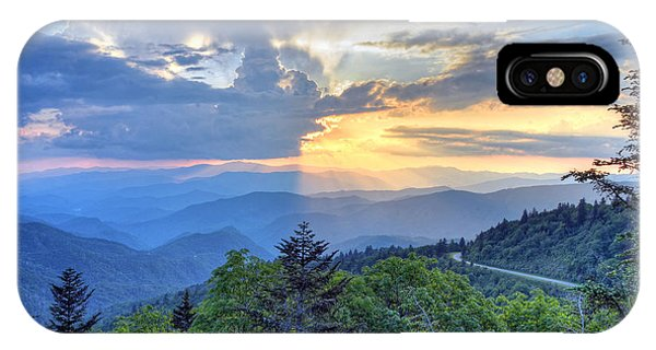 Waterrock Knob Sunset Phone Case by Mary Anne Baker