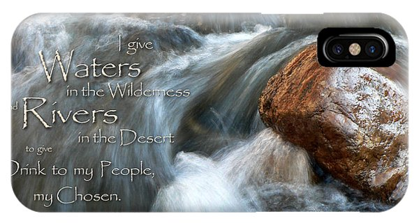 Waters In The Wilderness IPhone Case