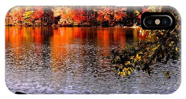 Waterside In Autumn IPhone Case