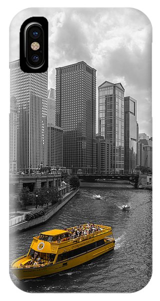 Chicago River iPhone Case - Watertaxi by Clay Townsend