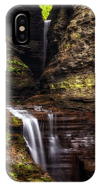 Watkins Glen Cavern Cascade IPhone Case