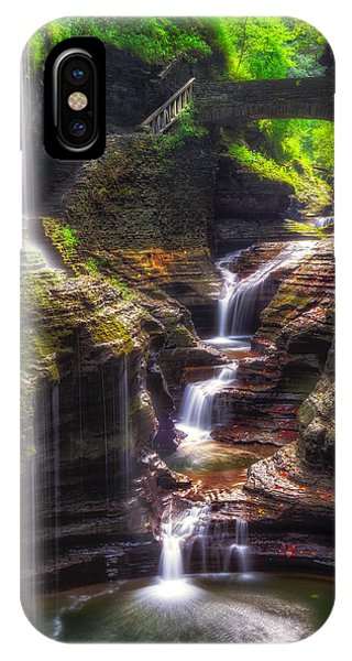 Watkins Glen Rainbow Falls IPhone Case