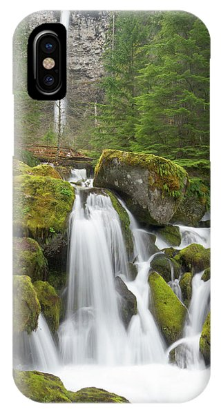 Basalt iPhone Case - Watson Creek And Falls, Oregon by William Sutton
