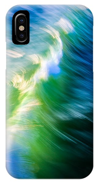 IPhone Case featuring the photograph Wave Abstract Triptych 1 by Brad Brizek