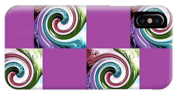 Wave Of Purple 2 IPhone Case