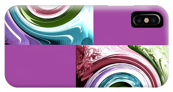 Wave Of Purple IPhone Case