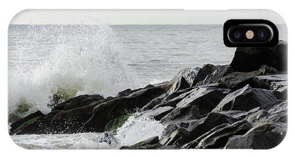 Wave On Rocks IPhone Case