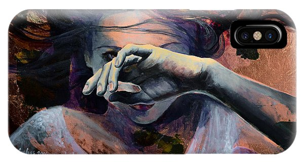 Figures iPhone Case - Wavering... by Dorina  Costras