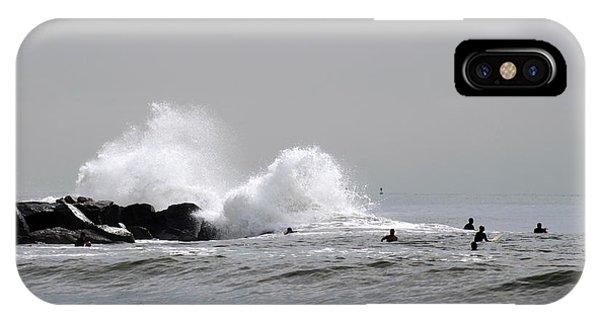 Waves Crash Against Beach 91st Jetty IPhone Case