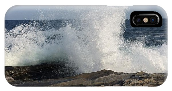 Waves Crashing On Rocky Maine Coast IPhone Case