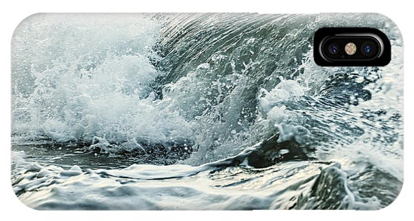 Waves In Stormy Ocean IPhone Case