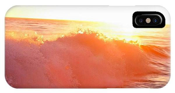 Waves In Sunset IPhone Case