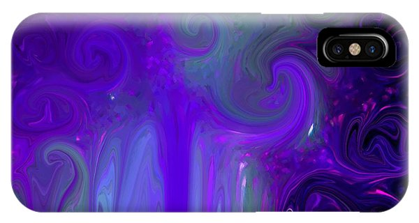 Waves Of Violet - Abstract IPhone Case
