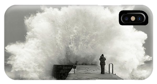 Famous Artist iPhone Case - Waves Photographer by Mikel Lastra