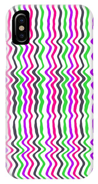 Repeat iPhone Case - Wavy Stripe by Louisa Hereford