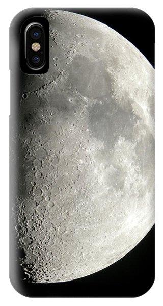 Half Moon iPhone Case - Waxing Half Moon by Pekka Parviainen/science Photo Library