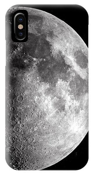 Half Moon iPhone Case - Waxing Moon by Royal Astronomical Society/science Photo Library