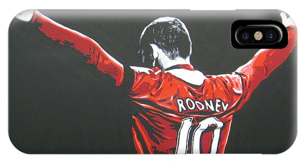 Wayne Rooney - Manchester United Fc 2 IPhone Case