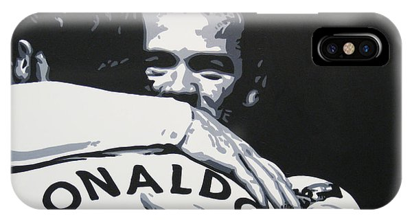 Wayne Rooney iPhone Case - Wayne Rooney And Ronaldo - Manchester United Fc by Geo Thomson