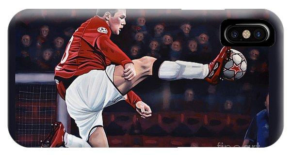Wayne Rooney iPhone Case - Wayne Rooney by Paul Meijering