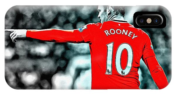 Wayne Rooney iPhone Case - Wayne Rooney Poster Art by Florian Rodarte