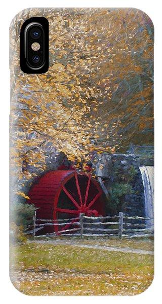 Wayside Inn Grist Mill IPhone Case