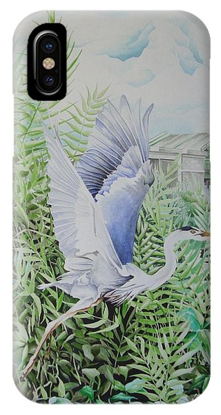 Wrightsville Blue Heron IPhone Case