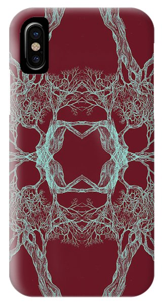 We Are All Made Of Stars Tree 12 Hybrid 1 Red IPhone Case