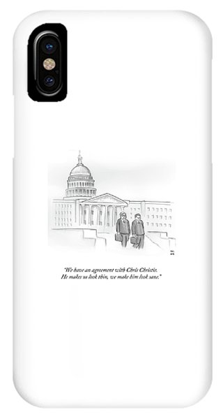 Capitol Building iPhone Case - We Have An Agreement With Chris Christie by Paul Noth