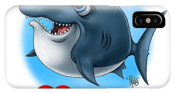 We Love Tourists Shark IPhone Case