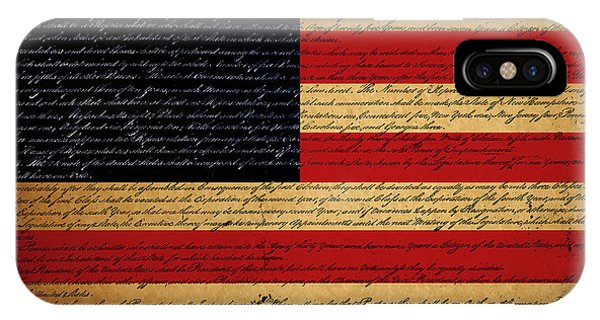 We The People - The Us Constitution With Flag - Square IPhone Case