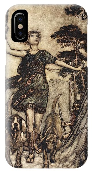 1 iPhone Case - We Will, Fair Queen by Arthur Rackham