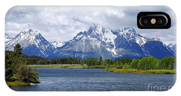 Weather On The Teton Mountain Range At Oxbow Bend IPhone Case
