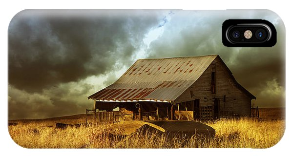 Weathered Barn  Stormy Sky IPhone Case