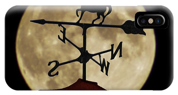 Weathervane Before The Moon IPhone Case