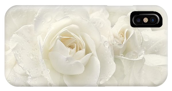 Wedding Day White Roses IPhone Case